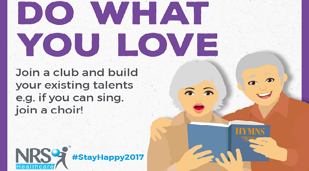 The NRS Healthcare #StayHappy2017 campaign